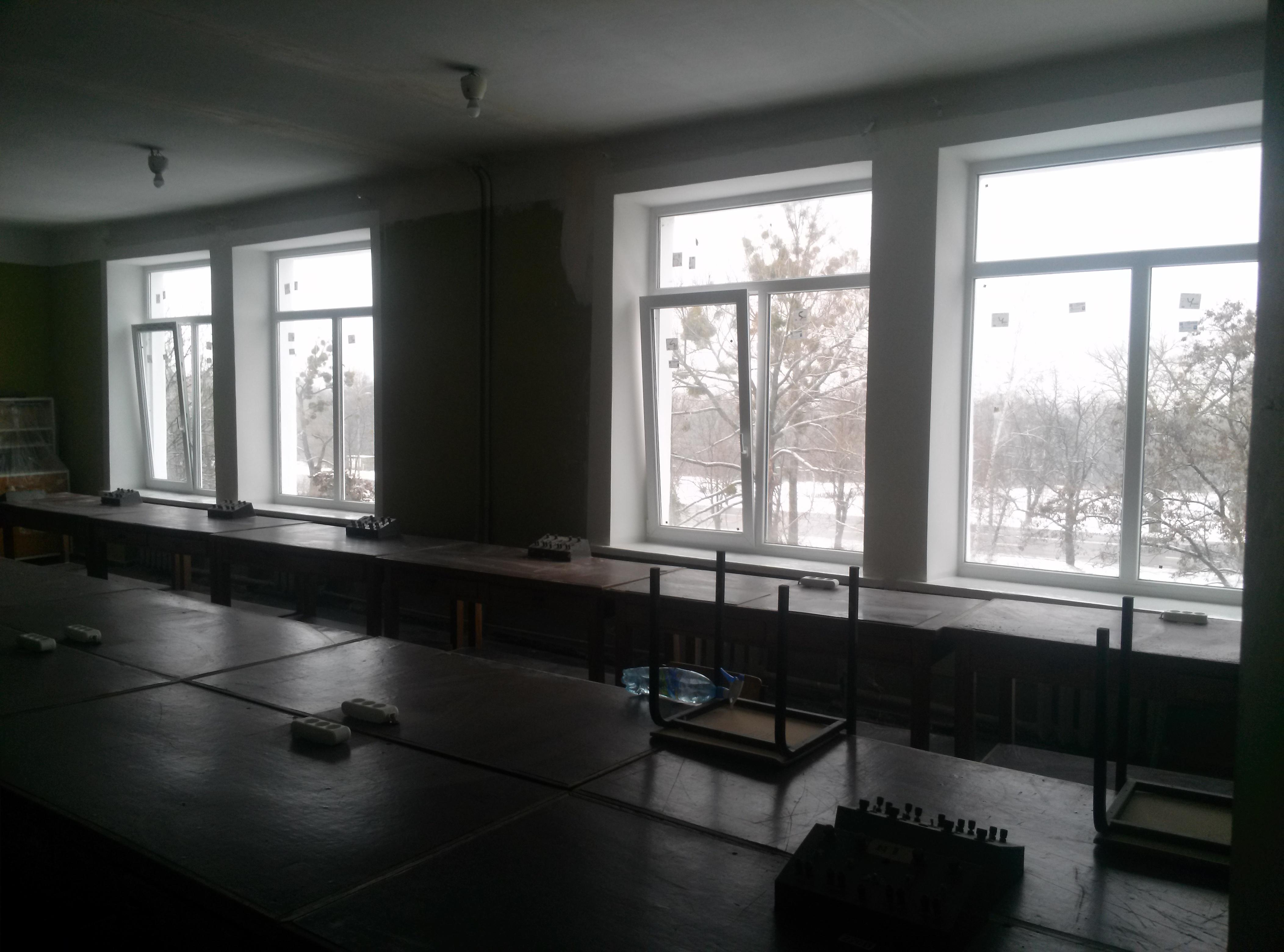 Замена окон в общих лабораториях