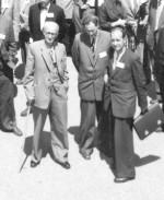 Академики К.Д. Синельников, Я.Б. Файнберг, А.К. Вальтер на международной конференции