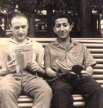 1967 год. В парке студенты ФТФ 68 года выпуска Тальянский Э.Б. и Халил Шакарчи (Ирак)