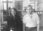 1936 год.  УФТИ. Ольга Трапезникова и Георгий Милютин