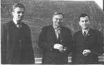 О.О.Шишкін, А.М.Блінкін, секретар комітету ЛКСМУ В.С.Калашник