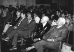 проводи до війська, 1982-5 р.р. проводи до війська, сидять у першому ряду: секретар партбюро В.Т.Грицина, заступник секретаря парткому А.О.Звягінцев, декан В.І.Муратов, заступник декана М.М.Макаров, начальник другого відділу генерал М.І.Доброльотов