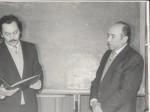 1987 р. Святкування 25-річчя ФТФ. В.І.Фареник, В.Т.Толок