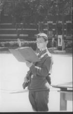 1973 рік. Військові збори в Дніпропетровську, присягу приймає П.Б.Руткевич, випускник 1975 року.