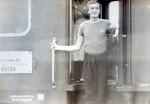 Июль – август 1982 года. Интеротряд ХГУ перед отъездом в ГДР. На снимке: Пивовар Виктор «На Берлин»