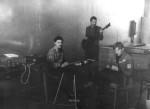 """Група називалась """"LYP"""" (Laugh of Young Physics) та проіснувала досить довго - приблизно до початку 90-х. Фото зроблено приблизно в 1973-1974 роках.Репетиція ВІА в актовому залі ФТФ. За клавішними студент на прізвисько """"Йог"""" (учився на фтф на 2 роки молодше за А.Блінкіна), стоїть із гітарою Олександр Рибка, сидить із гітарою Анатолій Блінкін"""