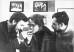 1968, перекур во время выпуска нашей знаменитой стенгазеты «Электрон». Рекордная длина – 42 (!) ватманских листа. Справа-гл.редактор «Электрона» Ю.А.Палант
