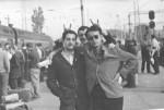 1966 р. Перед від'їздом до колгоспу Є.М.Чудновський, В.Ф.Клєпіков