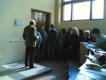 26.04.2007 р. Ю.О.Кірочкін лає студентів, які спізнились на другу годину пари
