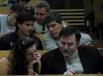 экзамен по математическому анализу зимой 2010 года. іспит приймають О.А.Осмаєв, А.Г.Гах і Ю.О.Кіценко