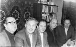 1983год. Преподаватели ФТФ А.А.Яценко, В.В.Слезов, С.В. Пелетминский, В.П. Демуцкий, Ю.А. Кирочкин