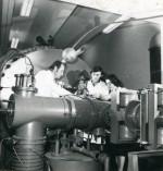 25 березня 1977 р. Завідувач лабораторії А. В. Кузніченко, ст. н. с. Е. А. Черніна та ст. н. с. В. М. Лєбєдєв