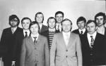 випускники кафедри фізики плазми 1976 року: М.М.Юнаков, ???, М.П.Соколов, С.І.Кононенко, Ю.П.Крячко, Г.??? Доля, В.Т.Колесник, М.О.Азарєнков, ???