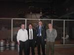 2008 р. Є.Д.Волков, В.М.Пятов, І.Ясін, І.М.Панкратов біля торсатрона «Ураган-3М»