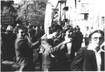 першотравнева демонстрація 1977 року: І.Бандос, А.Скрипник, О.Ф.Целуйко. С.В.Литовченко