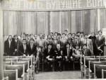 Ноябрь 1985 года. Фото курса выпуска 1986 года после подписания распределения. В центре снимка – заместитель декана Макаров М.Н.